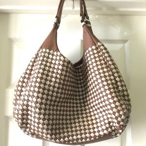 Bottega Veneta Brown White Nappa Leather Bag